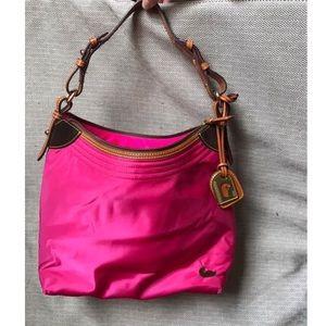 Dooney & Bourke Hot Pink Leather Strap Shoulderbag